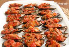 Cómo preparar unos mejillones gratinados a la Panadera,el aperitivo perfecto para una velada con tus invitados http://www.recetasderechupete.com/mejillones-gratinados/15424/