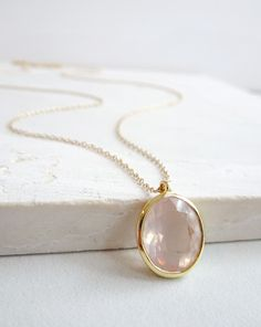 Rose Quartz is magical ♡ Especially when it's rose-cut and set in 14k gold