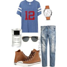 Untitled #180 by mayelin-decire-rodriguez on Polyvore featuring polyvore, fashion, style, Converse, Yves Saint Laurent and FOSSIL