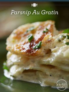 Mmm! Parsnip Au Gratin on the side! #recipe