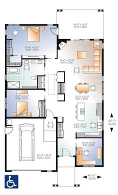 House Plan 76388 Level One