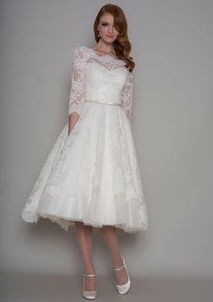 86-Delilah - Vntage inspired tea length dress http://wedding-dress-tips.us