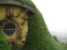 The Bag End Hobbit House | From left to right: A misty morning in Hobbiton, a window in Bag End ...