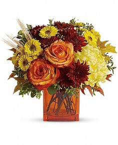 Teleflora's Autumn Expression Flowers, Teleflora's Autumn Expression Flower Bouquet - Teleflora.com