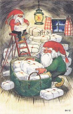 Christmas Tale, Christmas Crafts, Christmas Illustration, The Elf, Gnomes, Elves, Illustrators, Visual Arts, Jingle Bells