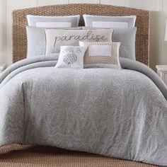 Phoenicis Gray/White Comforter Set