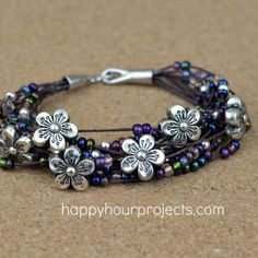 DIY Bracelet : DIY Floral Layered Bracelet