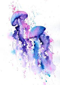 Jellyfish watercolour by rachel-mcnaughton - Jellyfish watercolour by rachel-mc. - Jellyfish watercolour by rachel-mcnaughton – Jellyfish watercolour by rachel-mcnaughton Best Pic - Jellyfish Drawing, Watercolor Jellyfish, Jellyfish Painting, Watercolour Painting, Jellyfish Tattoo, Jellyfish Quotes, Tattoo Watercolor, Jelly Fish Watercolor, How To Draw Jellyfish