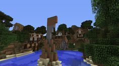 Minecraft World of Raar -SPOTLIGHT- Monument Lake  Minecraft server Minecraft building ideas and structures