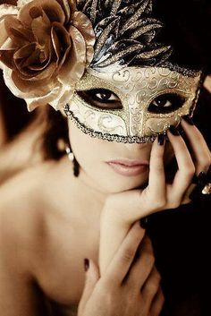 Gold and Black Masquerade Mask