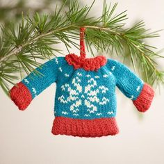 One of my favorite discoveries at WorldMarket.com: Mini Knit  Sweater Ornaments, Set of 3