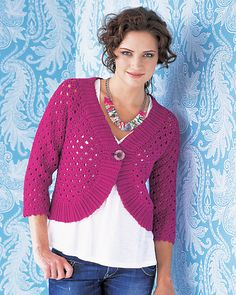 Ravelry: Lacy Cropped Cardi pattern by Robyn Chachula    Why haven't I made this yet????
