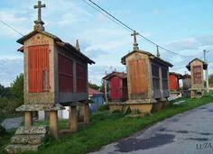Hórreos en Paderne de Allariz (Ourense)