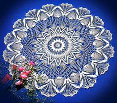 Art Crochet: Crochet dentelle Nappe - Ananas en dentelle crochetée