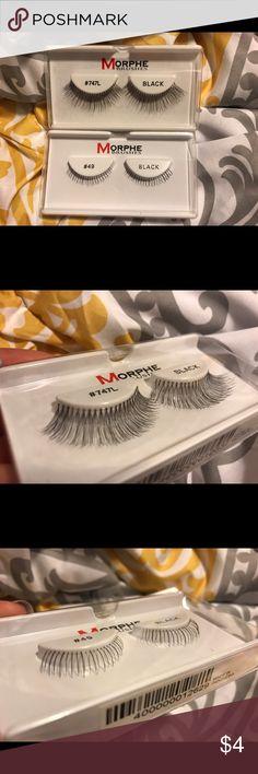 e79245a10e6 #747L Black(top lashes), #49 Black(bottom lashes). Both sets are originally  $2.99 each(not selling separate). Morphe Makeup False Eyelashes