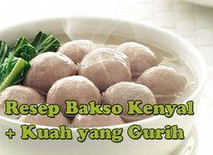 cara-membuat-bakso Meat Loaf Recipe Easy, Meat Recipes, Snack Recipes, Cooking Recipes, Snacks, Indonesian Desserts, Indonesian Cuisine, Indonesian Recipes, Low Carb Meats
