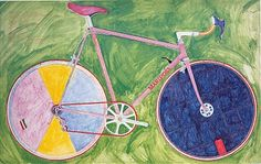 Bicycle Specialties: Greg Curnoe and his Mariposas.  Watercolour of Mariposa Low Profile