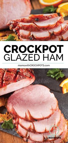 Crock Pot Easter Ham - Don't waste your time in the kitchen this holiday season. Pull out your slow cooker for this delicious Crockpot Glazed Ham Recipe! Pork Recipes, Slow Cooker Recipes, Cooking Recipes, Recipies, Ham In Slow Cooker, Baked Ham Recipes, Meal Recipes, Free Recipes, Cooking Ham In Crockpot