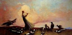 The West Wind by Australian painter Sydney Long