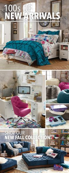 Here's what's new: bright and bold bedding, everything you need to refresh your space with hundreds of easy room updates. Reno, Interior Design Tips, Dream Rooms, Cool Rooms, My New Room, Cheap Home Decor, Swagg, Vintage Home Decor, Bedroom Decor