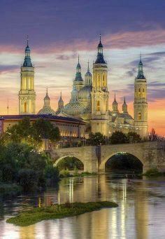 Zaragoza, Spain (Saragossa in English). Is the capital of the Zaragoza Province of Aragon, Spain. It is situated on Ebro River and its tributaries. The building shown in the picture is the Basilica of Our Lady of the Pillars which is a much see! Beautiful Places To Visit, Wonderful Places, Beautiful World, Simply Beautiful, Amazing Places, Absolutely Gorgeous, Places To Travel, Places To See, Places Around The World