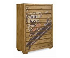 THE FURNITURE :: Transitional Style Light Oak color Accent Chest, 'Spongebob Surf Club' Collection by Lea. FREE SHIPPING