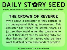 Write about a character as they partake in an underground fighting tournament...