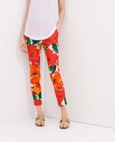Image 2 of PRINTED TROUSERS from Zara