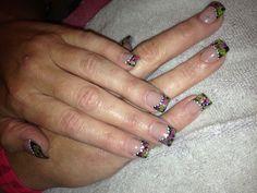 Acrylic nail color design