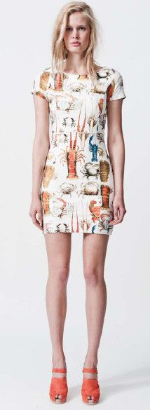 crustacean dress by arabella ramsay
