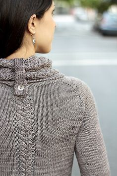 On the Road Again #Sweater #pattern by Joji Locatelli. Wonderful neck detail.