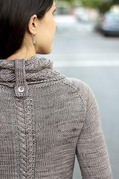 On the Road Again #Sweater #pattern by Joji Locatelli. Wonderful neck detail.