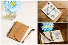 Personalized  Kraft Notebooks- 55% off!  For all the writers, the doodlers, the scribblers, and the scrawlers.