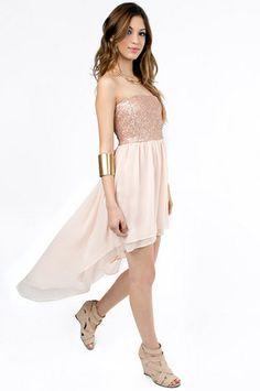 Sari Sequined Hi-Low Dress $56 at www.tobi.com