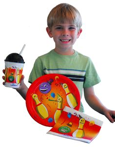 Great place to get kids bowling birthday party supplies. Including plates, cups & napkins.