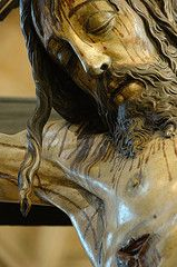 Mosteiro dos Jeronimos (Lisbon, Portugal). Christ statue detail.