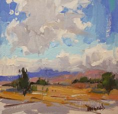 cathleen rehfeld • Daily Painting: New Mexico Skies