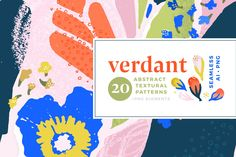 Ad: Verdant : Abstract Seamless Patterns by Anugraha Design on Warning: unapologetically bright and bold patterns coming your way! The inspiration for this set was to create a set of patterns that was Pattern Drawing, Pattern Art, Pattern Design, Pattern Blocks, Abstract Pattern, Beautiful Web Design, Floral Texture, Social Media Images, Graphic Patterns