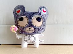 Justin the cat with a bear mask by zeropumpkin on Etsy, $20.00