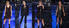 Irene Grandi Sanremo 2015. Italian Song Festival dressed by PNP  1) Alessandra Marchi Dress / Marilène Beneduce Jewels / Guidi Boots  2) Maurizio Amadei Total Look  3) Alessandra Marchi Dress / Layer-0 Jewels / Marsèll Shoes   4) Matteo Thiela Vest and Skirt / Guidi Boots  #pnpfirenze #alessandramarchi #guidi #maurizioamadei #marilenebeneduce #layer0 #marsell #matteothiela