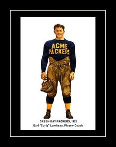 Vintage 1921 Green Bay ACME Packers Program Cover Poster featuring Curly Lambeau, It's a lasting gift for any Green Bay Packers fan. This ready-to-frame poster is printed to order on heavyweight satin photo paper. Buy with confidence. I stand behind everything I sell. If you are not satisfied please contact me so I can resolve your unmet expectations. Curly Lambeau, Green Bay Packers Fans, Football Wall, Nfl Pro, Stand By Me, Order Prints, Confidence, Satin, Wall Art