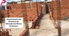 Assentamento de Alvenaria em Blocos Cerâmicos -- Quer saber mais ou fazer um orçamento de Pré-Moldados, Estruturas Metálicas e Obras: http://premonta.com.br