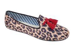 Costantino Leopard Red Satin