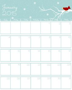 Do you need a cute free 2015 printable calendar? Look no further. I have just the thing you are looking for. Did I mention it is cute and free?
