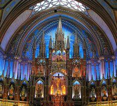 Notre Dame Basilica in Montreal by Sandra Leidholdt, via Flickr