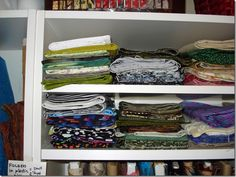 4 easy (& cheap) ways to organize your fabric TIP #3) one yard and under...