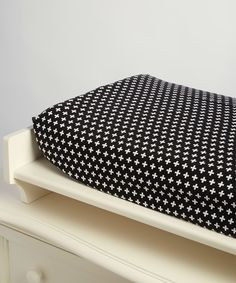 Look at this #zulilyfind! White & Black Cross Changing Pad Cover by Lolly Gags #zulilyfinds