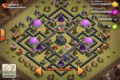 TH 9 war base- clash of clans