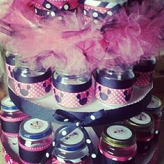 Minnie Mouse Baby Food Jar Favors