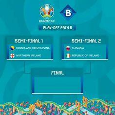 Republic Of Ireland, Semi Final, Bosnia And Herzegovina, Northern Ireland, Euro, Northern Ireland County